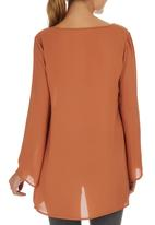 edit - Bell Sleeve Tunic Mid Brown