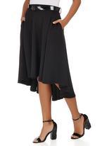STYLE REPUBLIC - High Low Midi Skirt Black