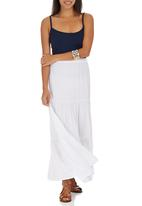 edit - Tiered Maxi Skirt White