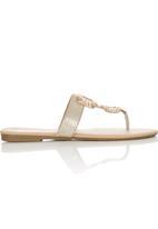 Bata - Slip On Sandals Gold