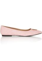 Bata - Pointed Toe Pumps with Gold Detail Pale Pink