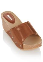 Bata - Slip On Wedges Metallic