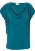 edit - Cowl T-shirt Mid Blue