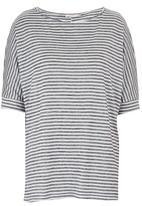 edit - Stripe Oversized Tunic Blue and White
