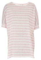 edit - Stripe Oversized Tunic Pale Pink