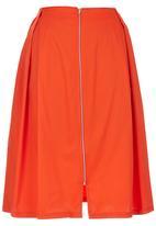 c(inch) - Zip Midi Skirt Orange