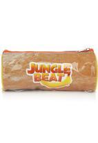 Jungle Beat - Rhino Pencil Case Orange
