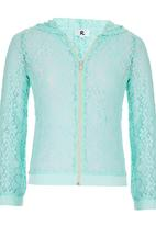Rebel Republic - Lace Bomber With Hood Green