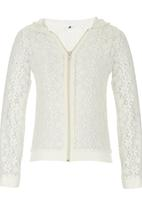 Rebel Republic - Lace Bomber With Hood Milk
