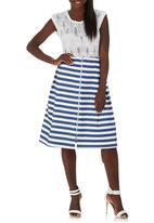 c(inch) - Zip Midi Skirt Navy