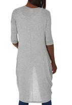 edit Maternity - 3/4 Sleeve Drape Top Dark Grey