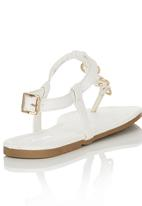 Bata - T-bar Sandals White
