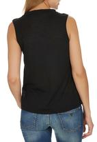 c(inch) - Tank Top With Trim Black