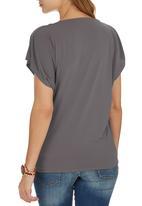 edit - Cowl T-shirt Stone
