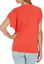 edit - Cowl T-shirt Coral
