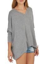 c(inch) - Hanky Hem T-shirt Grey Melange