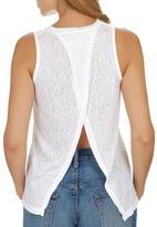 c(inch) - Open Back Tank Top White