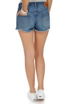 Levi's® - 501(R) Boom Town Shorts Mid Blue