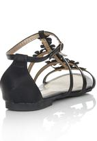 Bata - Ankle Strap Flower Detail Sandals Black