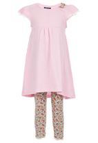 London Hub - Dress & Legging Set Multi-colour