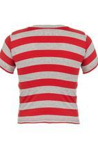 London Hub - Striped Tee Red