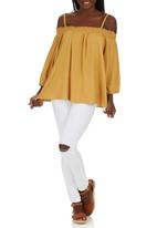 STYLE REPUBLIC - Peasant Off the Shoulder Top Yellow