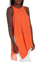 STYLE REPUBLIC - Asymmetrical Sleeveless Blouse Orange