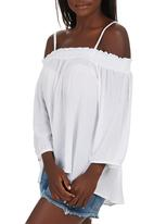 STYLE REPUBLIC - Peasant Off the Shoulder Top White