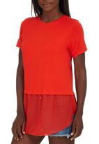 c(inch) - Combo T-shirt Coral