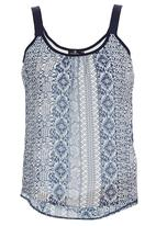STYLE REPUBLIC - Petersham Cami Blue and White