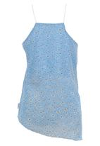 Precioux - Floral Strappy Top Pale Blue