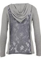 Precioux - Hooded Cardigan Grey