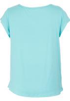 Precioux - Lace Detail Top Turquoise