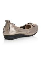 Sam Star - Leather Striped Court Shoes Metallic