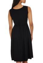 edit - Drape Front Knit Dress Black