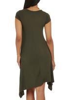 edit Maternity - Hanky Hem Dress Dark Green