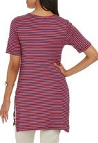 edit - Tunic Top with Side Slits Multi-colour