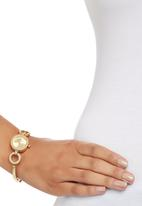 Badgirl - Watch with Round Link Detail Gold