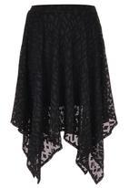 STYLE REPUBLIC - Hanky Hem skirt Black