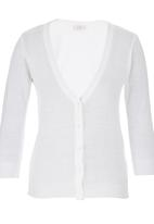 edit - Basic Cardigan White