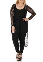 STYLE REPUBLIC - Lace Tunic Black