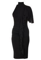 Gert-Johan Coetzee - High Neck Cascade Dress Black