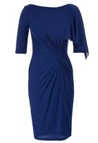 Gert-Johan Coetzee - Twist Dress with Cascade Dark Blue