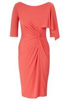 Gert-Johan Coetzee - Twist Dress with Cascade Coral