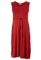 edit - Drape Front Knit Dress Orange