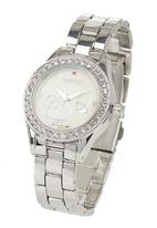 Digitime - Watch with Earring and Necklace Set Silver