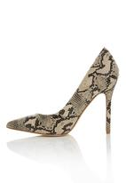 Plum - Snake Print Pointy Courts Neutral