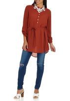 edit - Longer Length Shirt Mid Brown