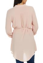 edit - Longer Length Shirt Pale Pink