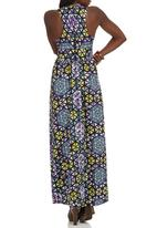 STYLE REPUBLIC - African Print Maxi Dress Multi-colour